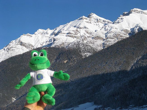 Polly was skiing in Austria<br />