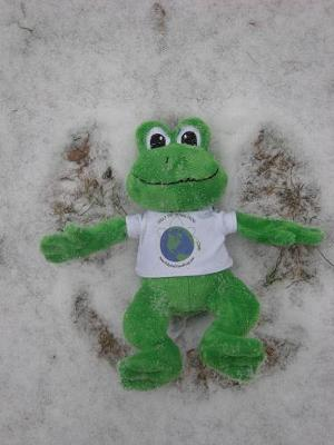 Polly the Making a Snow Angel