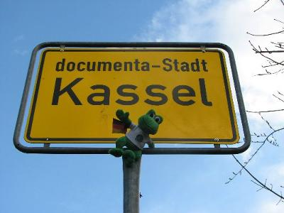 Polly the Travel Frog Visits Kassel, Germany