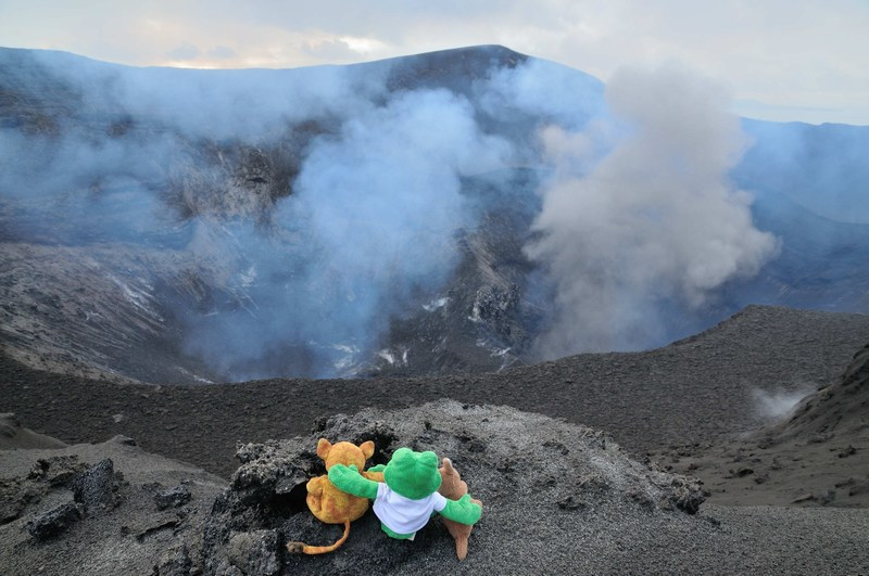 It was scary to be close to a volcano!